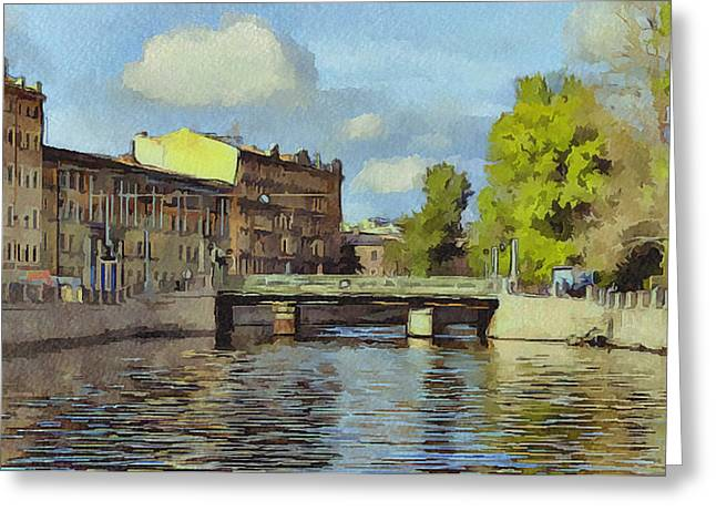 Old Town Digital Art Greeting Cards - Saint Petersburg 3 Greeting Card by Yury Malkov