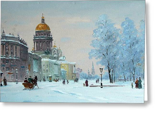 Prospects Greeting Cards - Saint Petersburg. The Cathedral Greeting Card by Alexander Alexandrovsky