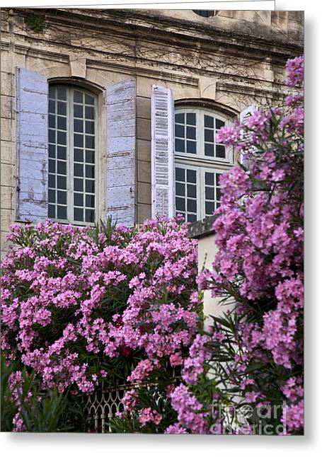 Saint-remy De Provence Greeting Cards - Saint Remy Windows Greeting Card by Brian Jannsen