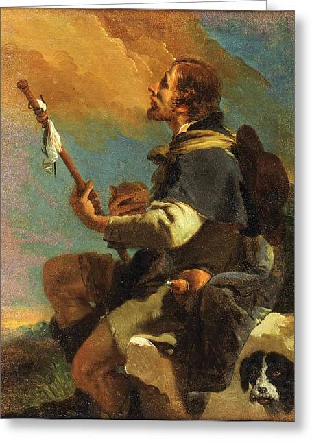Giovanni Battista Tiepolo Greeting Cards - Saint Roch Greeting Card by Giovanni Battista Tiepolo