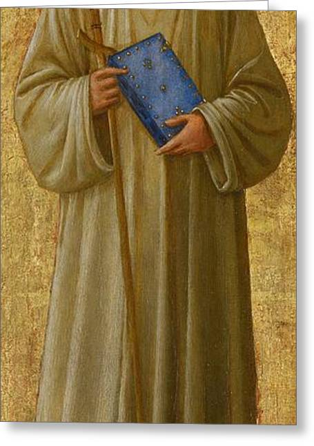 Full-length Portrait Paintings Greeting Cards - Saint Romuald Greeting Card by Fra Angelico
