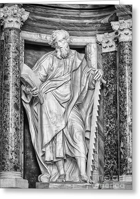 Lateran Greeting Cards - Saint Simon Greeting Card by Verena Matthew