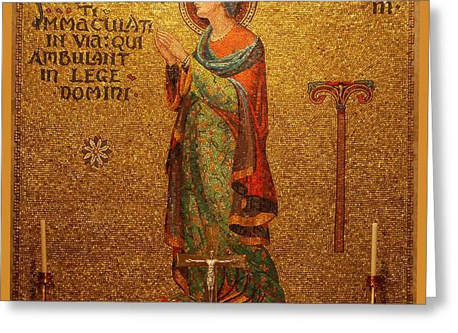 Saint Susanna Altar Greeting Card by Philip Ralley