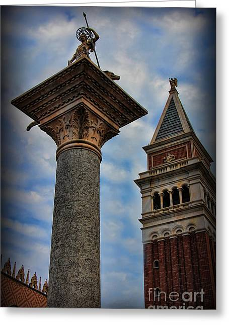 Saint Theodore Standing Guard II Greeting Card by Lee Dos Santos