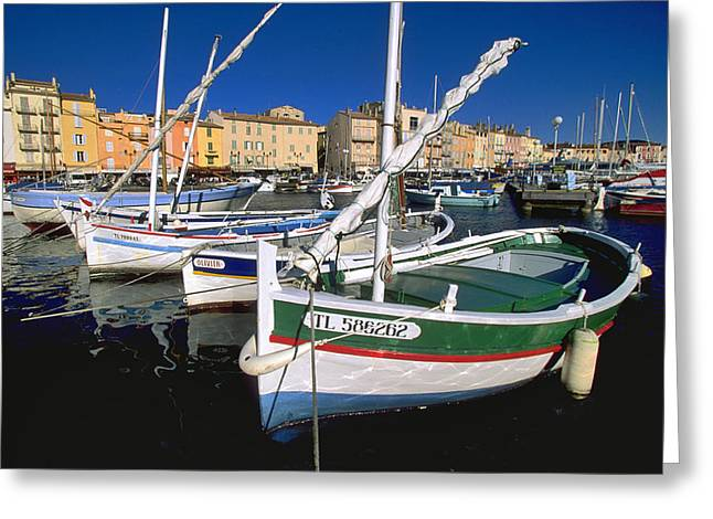Provence Village Greeting Cards - Saint Tropez Greeting Card by Gilles Martin-Raget