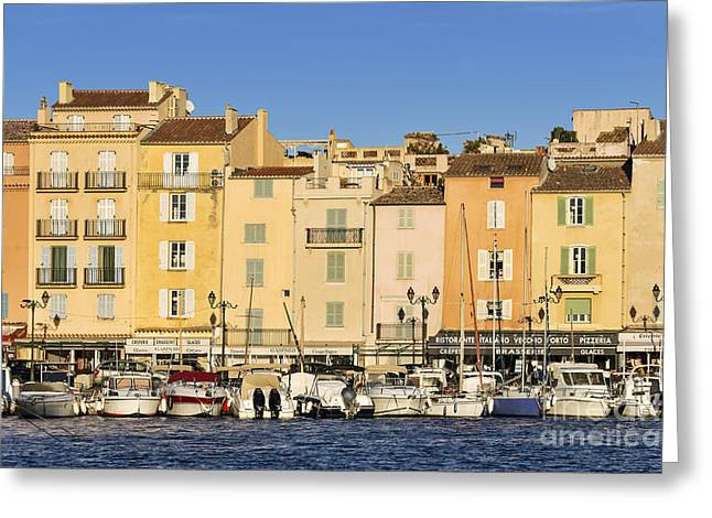 Southern France Greeting Cards - Saint-Tropez Waterfront Greeting Card by John Greim
