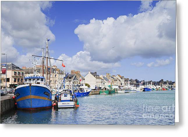 Calm Greeting Cards - Saint Vaast La Hougue Normandy France Greeting Card by Colin and Linda McKie