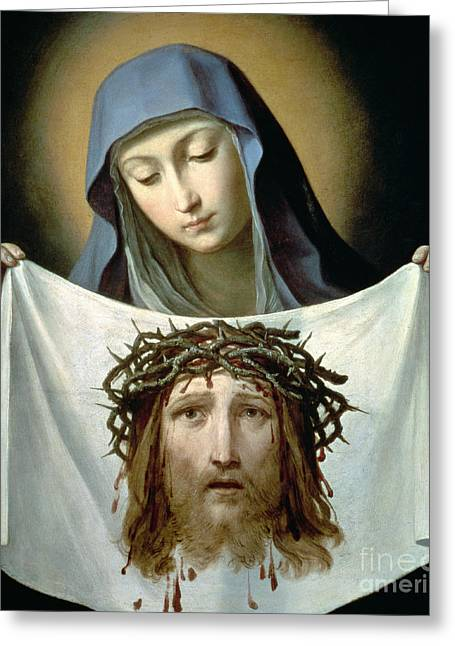 Imprint Greeting Cards - Saint Veronica Greeting Card by Guido Reni