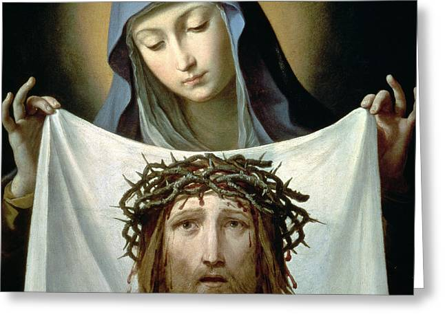 Saint Veronica Greeting Card by Guido Reni
