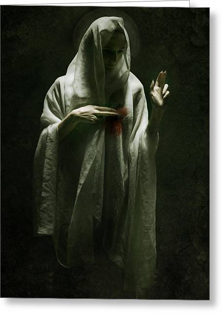 Macabre Digital Art Greeting Cards - Saint Greeting Card by Wojciech Zwolinski