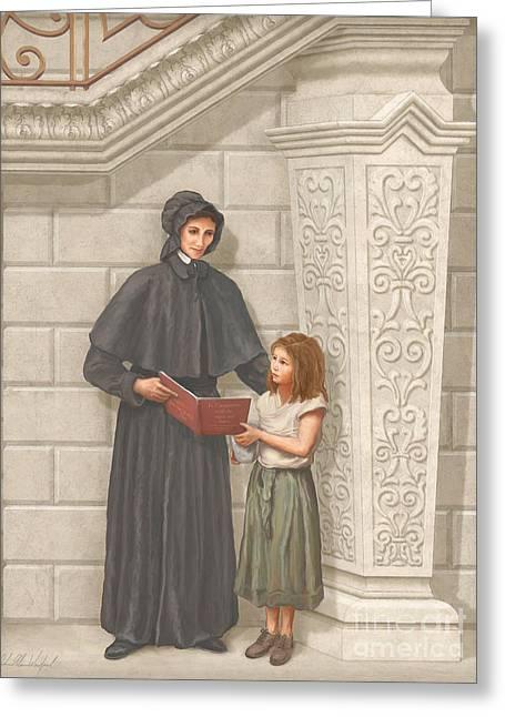 St Elizabeth Greeting Cards - Sainta Elizabeth Ann Seton Greeting Card by John Alan  Warford