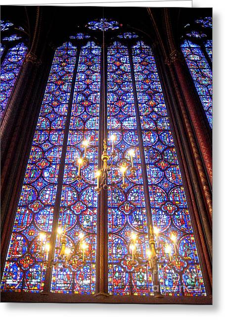 Frederick Luff Greeting Cards - Sainte Chapelle Trinity Greeting Card by Europe  Travel Gallery