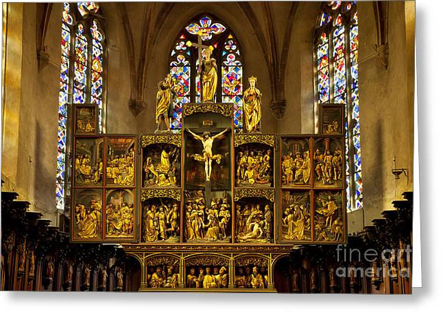 Route Des Vins Greeting Cards - Sainte Croix - Kaysersberg France Greeting Card by Brian Jannsen