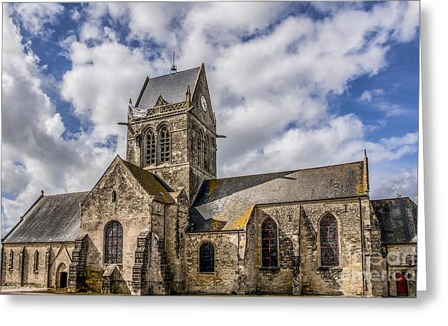1944 Movies Greeting Cards - Sainte-Mere-Eglise Greeting Card by Rui Marques