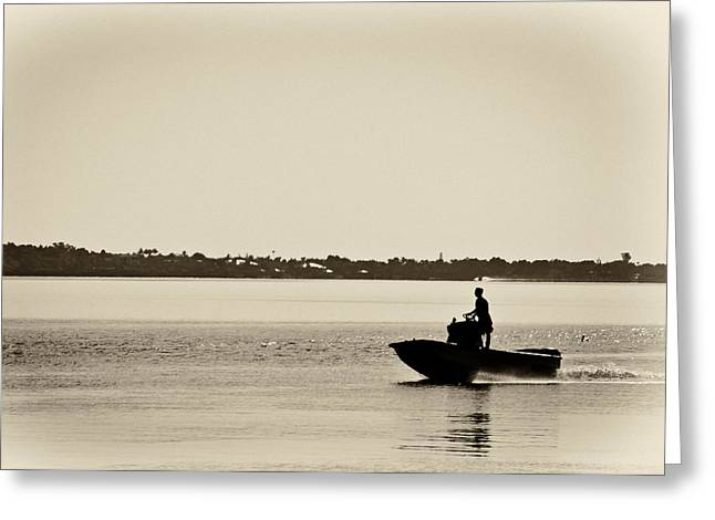 Martin County Greeting Cards - SaintLucieBoating Greeting Card by Patrick M Lynch