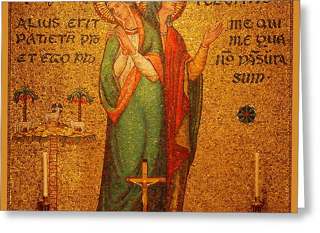 Saints Perpetua And Felicitas Altar Greeting Card by Philip Ralley