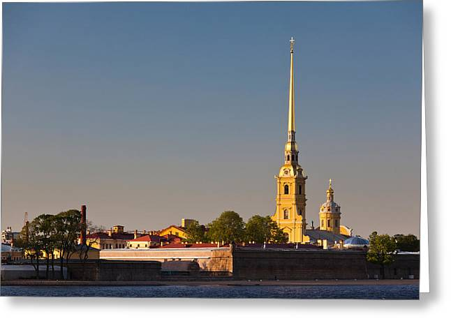 Russian Orthodox Greeting Cards - Saints Peter And Paul Cathedral, Peter Greeting Card by Panoramic Images