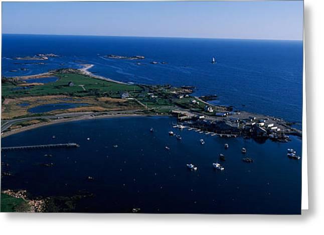 New England Lighthouse Greeting Cards - Sakonnet Point Lighthouse Greeting Card by Panoramic Images