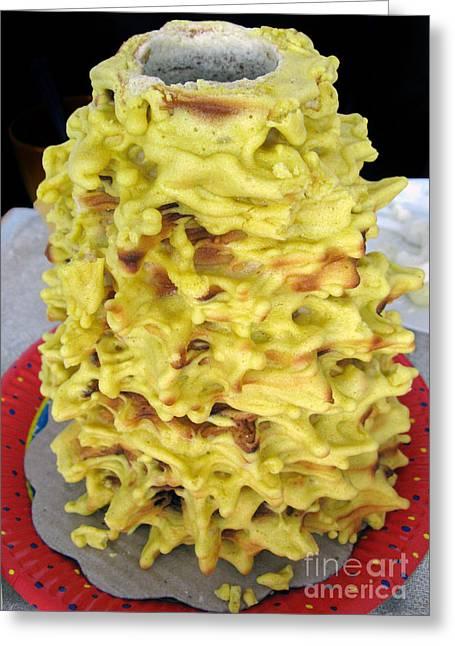 Ausra Paulauskaite Greeting Cards - Sakotis. Lithuanian Tree Cake. Greeting Card by Ausra Paulauskaite