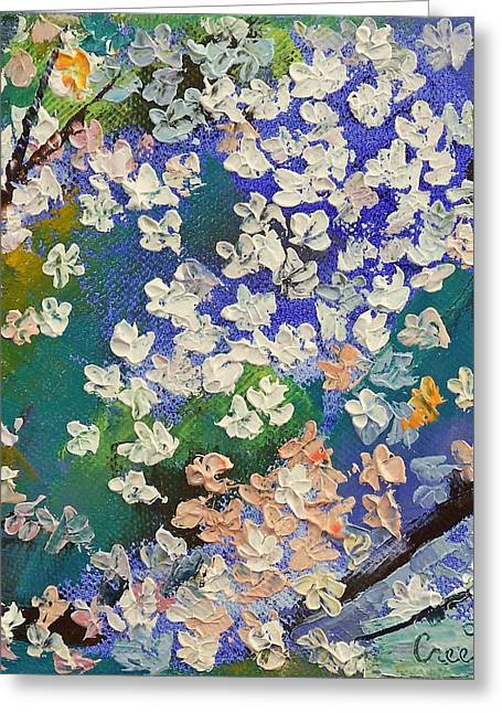 Flores Greeting Cards - Sakura Oil Painting Greeting Card by Michael Creese