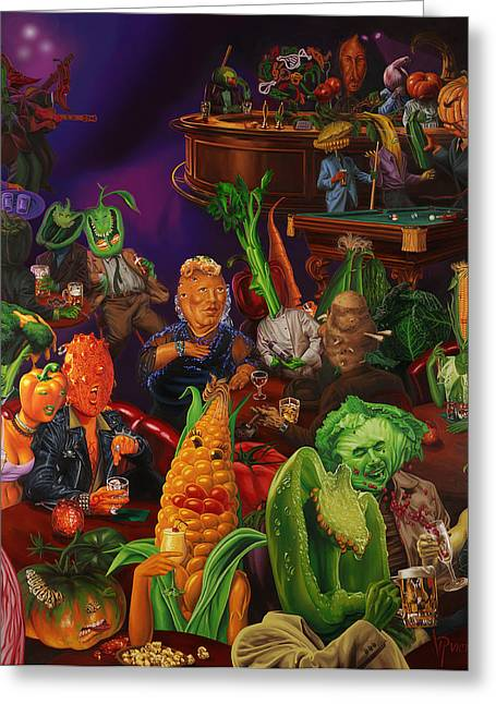 Salad Bar Greeting Card by Victor Powell