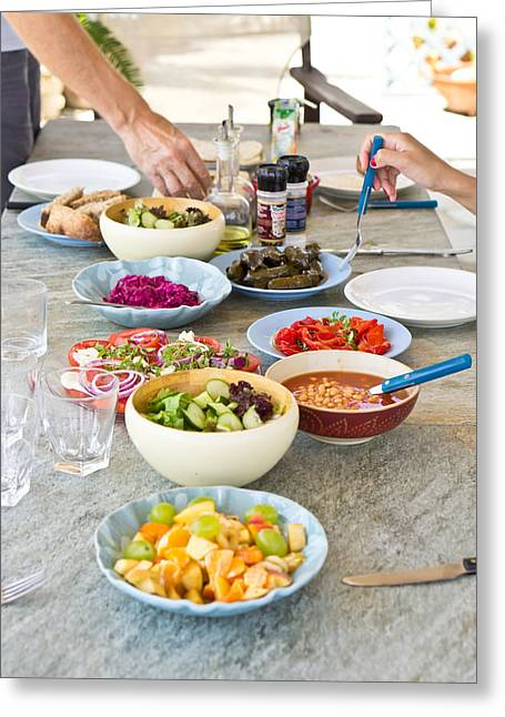 Weekend Photographs Greeting Cards - Salad dishes Greeting Card by Tom Gowanlock