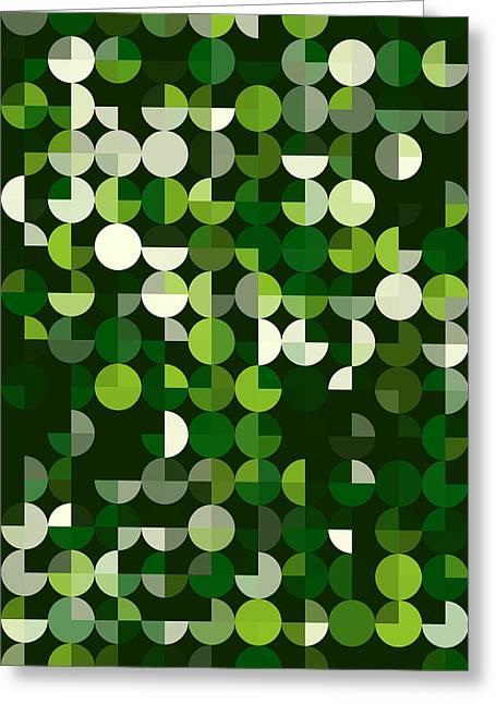 Vector Greeting Cards - Salad Geometric Circle Pie Vertical Pattern Greeting Card by Frank Ramspott