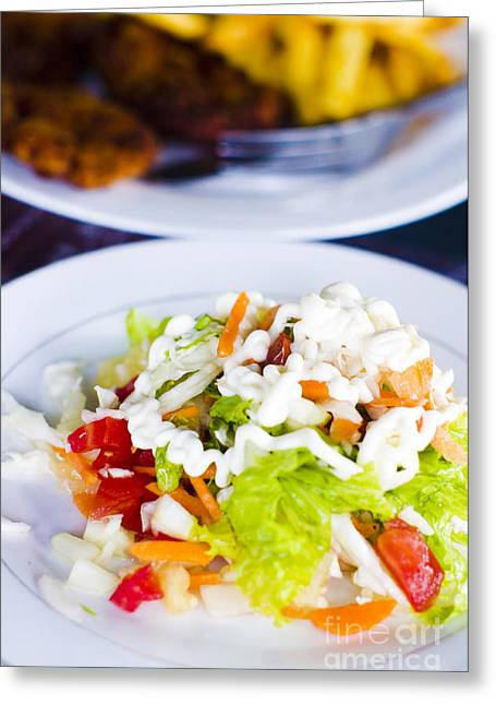 Vegeterian Greeting Cards - Salad Greeting Card by Tuimages