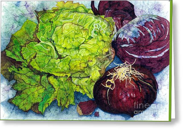 Lettuce Greeting Cards - Salad Starters Greeting Card by Barbara Jewell