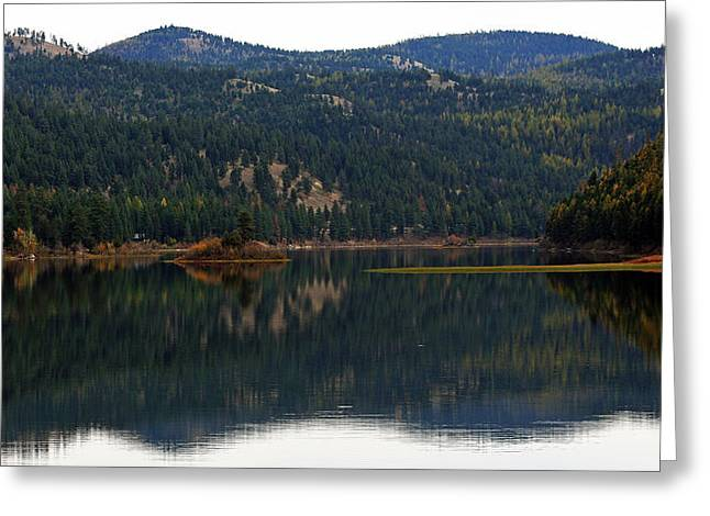 Salam  Lake Greeting Card by Larry Stolle