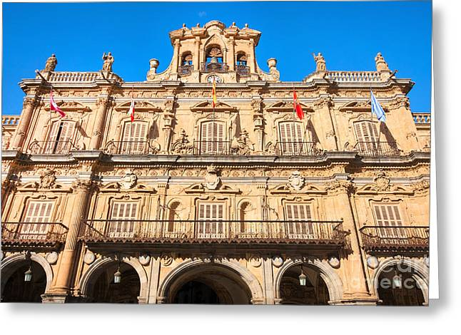 Castilla Greeting Cards - Salamanca Town Hall Greeting Card by JR Photography