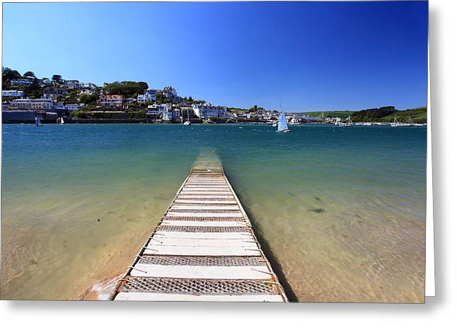 Blue Ria Greeting Cards - Salcombe Beach Devon England Greeting Card by Ollie Taylor