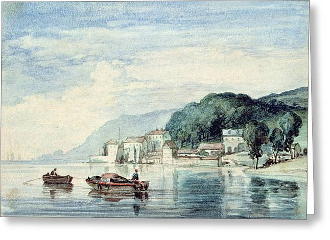 Riverscapes Greeting Cards - Salcombe, Devonshire Greeting Card by William Collins
