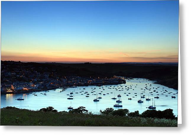 Blue Ria Greeting Cards - Salcombe Sunset  Greeting Card by Ollie Taylor
