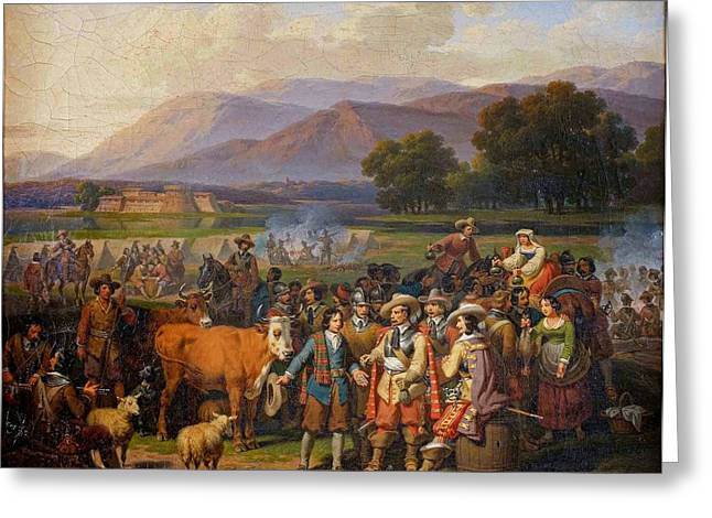 Hippolyte Greeting Cards - Sale of Herds to Military Forces Greeting Card by Hippolyte Lecomte