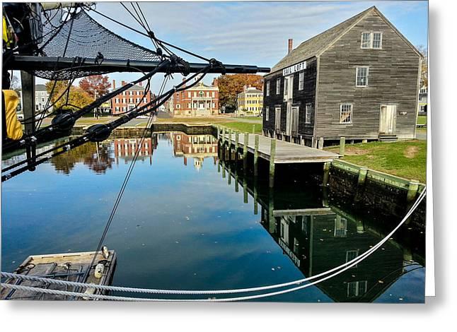 Sheds Greeting Cards - Salem maritime historic site Greeting Card by Jeff Folger