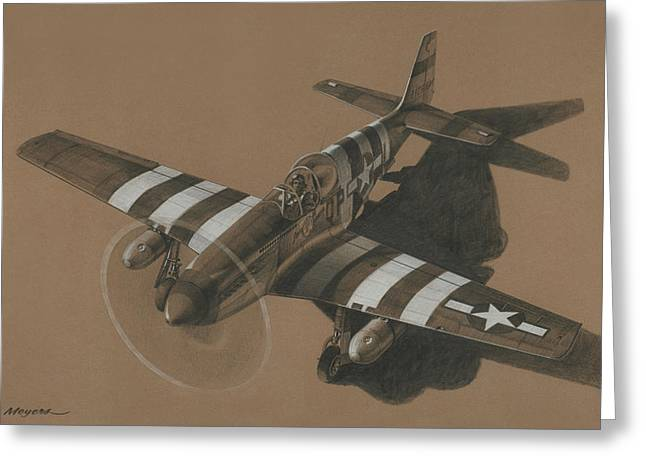 P-38 Greeting Cards - Salem Representative Greeting Card by Wade Meyers