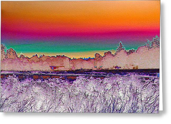 Focal Color Art Greeting Cards - Salem Sunrise Greeting Card by Lora Fisher
