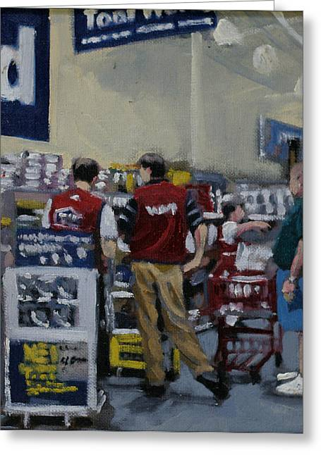 Hardware Paintings Greeting Cards - Sales Conference Greeting Card by David Zimmerman