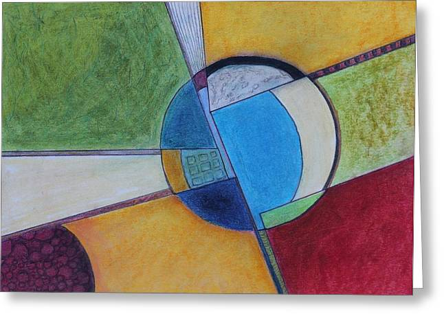 Abstract Forms Pastels Greeting Cards - Salina Greeting Card by Dennis Sullivan
