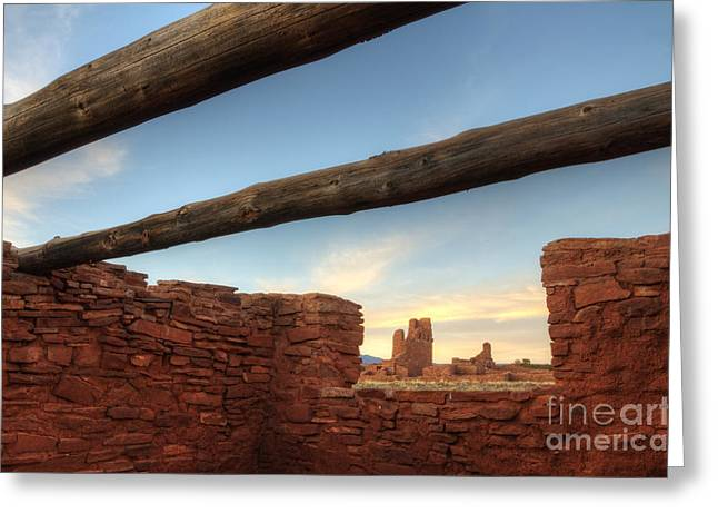 Salinas Pueblo Mission Abo Ruin 2 Greeting Card by Bob Christopher