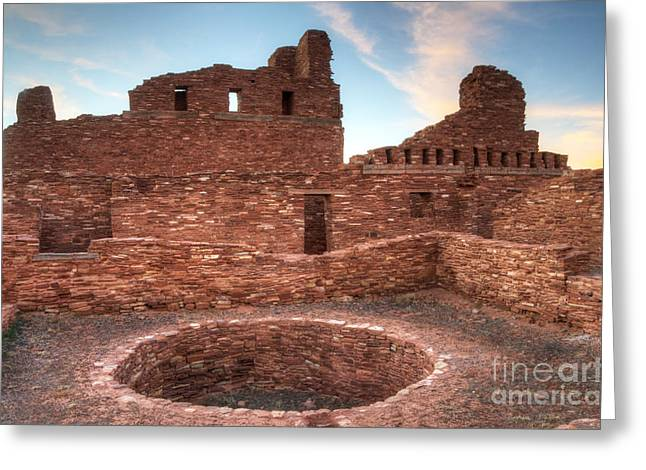 Salinas Pueblo Mission Abo Ruin 3 Greeting Card by Bob Christopher