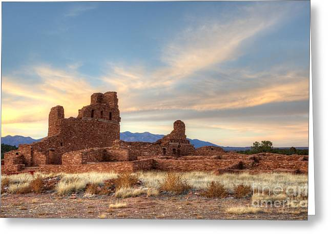 Salinas Pueblo Mission Abo Ruin 4 Greeting Card by Bob Christopher