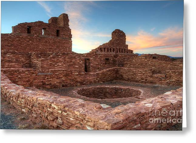 El Camino Real Greeting Cards - Salinas Pueblo Mission Abo Ruin Greeting Card by Bob Christopher