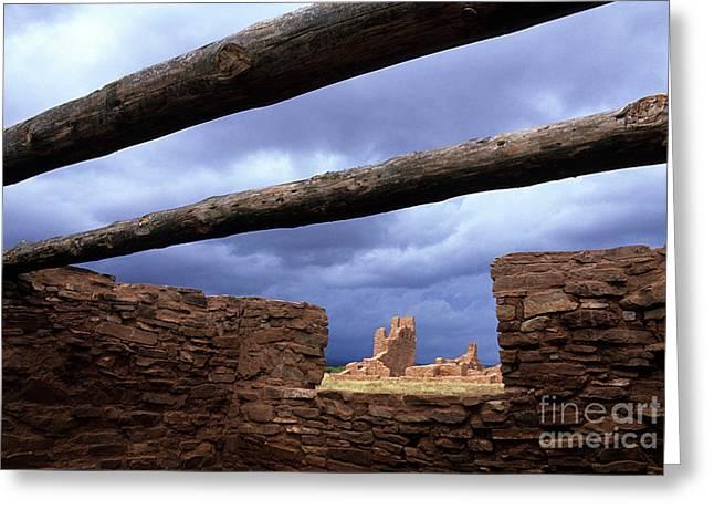 El Camino Real Greeting Cards - Salinas Pueblo Mission Abo Ruins 5 Greeting Card by Bob Christopher