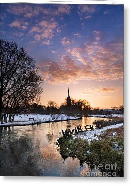 Wiltshire Greeting Cards - Salisbury Cathedral 1 Greeting Card by Rod McLean