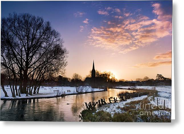 Wiltshire Greeting Cards - Salisbury Cathedral 2 Greeting Card by Rod McLean