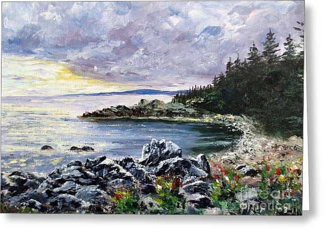 Maine Shore Greeting Cards - Salisbury Cove Greeting Card by Lee Piper