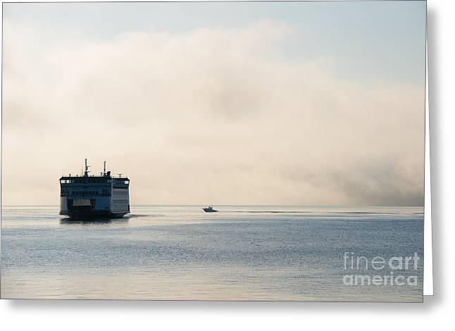 Salish into the Fog Greeting Card by Mike  Dawson