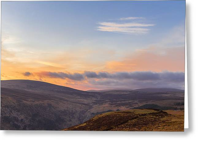 Heathland Greeting Cards - Sally Gap in Wicklow Mountains at twilight Greeting Card by Semmick Photo